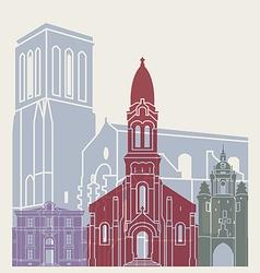 La Rochelle skyline poster vector image vector image