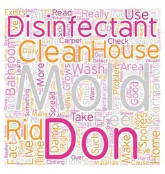 Mold disinfectant text background wordcloud vector