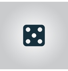 One dices - side with 5 vector image vector image