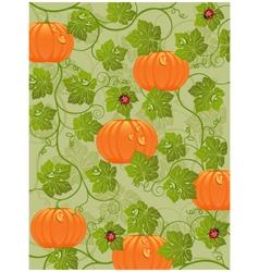 pumpkin poster vector image