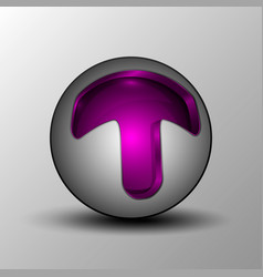 purple circle sphere logo vector image vector image