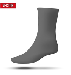 Realistic layout of black sock A simple example vector image vector image