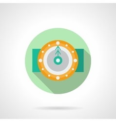 Round flat icon for holidays time vector image