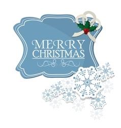 Snowflakes of christmas season design vector