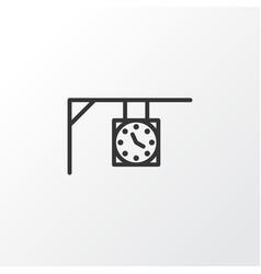 street clock icon symbol premium quality isolated vector image