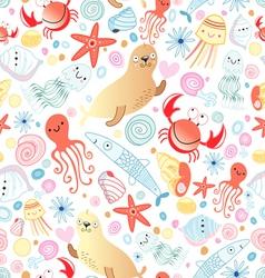 texture of sea animals vector image