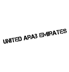 United arab emirates rubber stamp vector