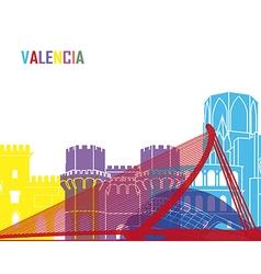 Valencia skyline pop vector