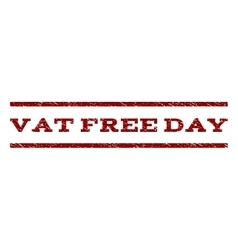Vat free day watermark stamp vector