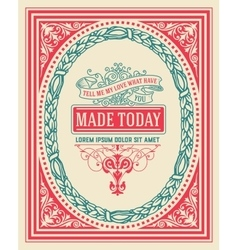 Vintage design with frame resources vector image vector image