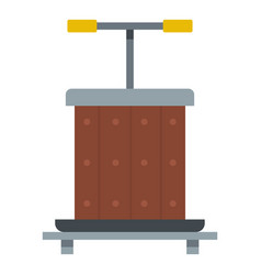 wine press icon isolated vector image vector image