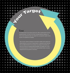 your target vector image vector image