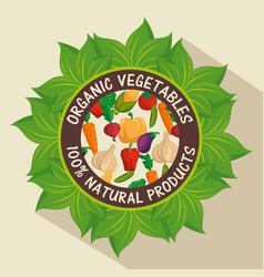 100 percent natural label vector