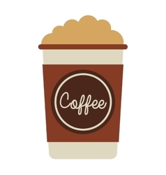 Delicious coffee silhouette icon vector