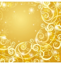 elegant christmas gold background vector image