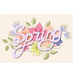 spring vintage background with flowers vector image