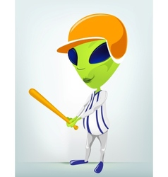 Cartoon Alien Baseball vector image