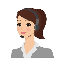 Receptionist girl vector