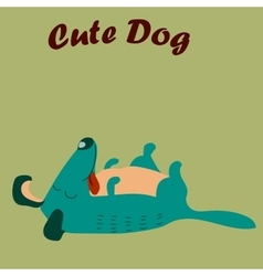 Cute dog or puppy vector