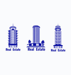 set of icons real estate icons of vector image