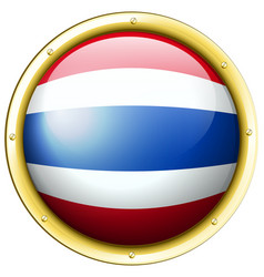 flag of thailand in round frame vector image
