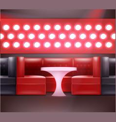night club interior vector image