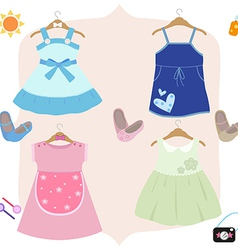 Kid dress vector