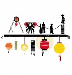 Asian design elements vector image