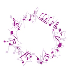 Violet music frame vector