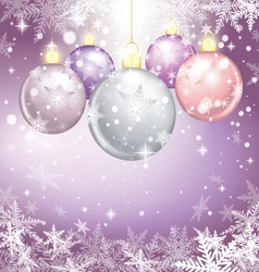 Winter holiday of christmas balls vector