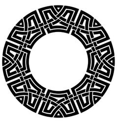 circle celtic frame vector image
