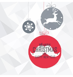 christmas ball with greeting vector image