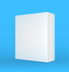 Realistic blank blue white packaging box template vector