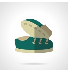 Flat color icons for footwear vector