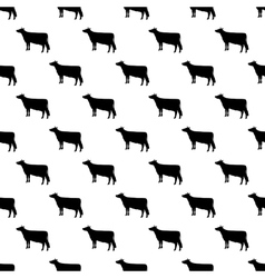 Cow pattern seamless vector