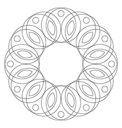 Mandala round ornament coloring page vector