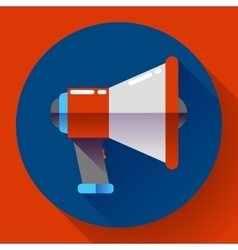 Megaphone icon  viral marketing flat vector