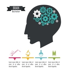 Brain design mind icon colorful vector