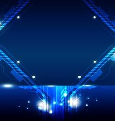 frame hi tech design vector image