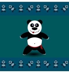 Panda sport A vector image