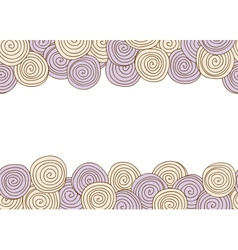 Abstract spiral seamless background with frame vector image vector image