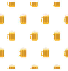 Beer glass seamless pattern vector