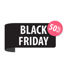 black friday label isolated on white black color vector image