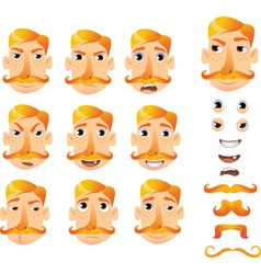 Cartoon faces for humor vector