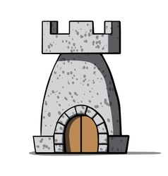 Cartoon medieval tower vector