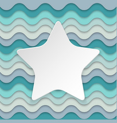Colorful wavy background with place for text in vector image vector image