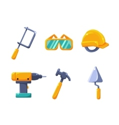 Construction work equipment set vector