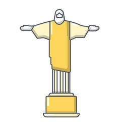 Cristo redentor icon cartoon style vector