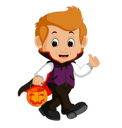 Cute dracula cartoon vector