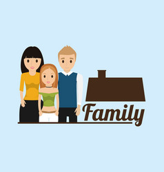 Family house poster image vector